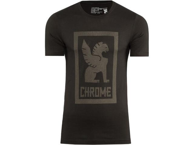 Chrome Large Lock Up T-Shirt Herren black/black graphic